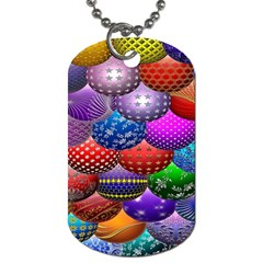 Fun Balls Pattern Colorful And Ornamental Balls Pattern Background Dog Tag (Two Sides)