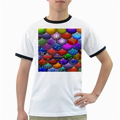 Fun Balls Pattern Colorful And Ornamental Balls Pattern Background Ringer T Shirts