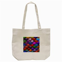 Fun Balls Pattern Colorful And Ornamental Balls Pattern Background Tote Bag (Cream)
