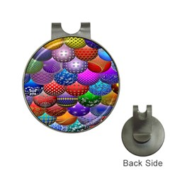 Fun Balls Pattern Colorful And Ornamental Balls Pattern Background Hat Clips with Golf Markers