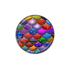 Fun Balls Pattern Colorful And Ornamental Balls Pattern Background Hat Clip Ball Marker (4 Pack)