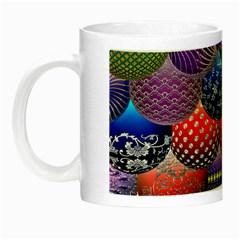 Fun Balls Pattern Colorful And Ornamental Balls Pattern Background Night Luminous Mugs