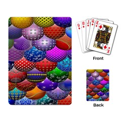 Fun Balls Pattern Colorful And Ornamental Balls Pattern Background Playing Card