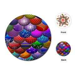 Fun Balls Pattern Colorful And Ornamental Balls Pattern Background Playing Cards (Round)