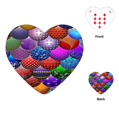 Fun Balls Pattern Colorful And Ornamental Balls Pattern Background Playing Cards (Heart)