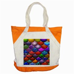 Fun Balls Pattern Colorful And Ornamental Balls Pattern Background Accent Tote Bag