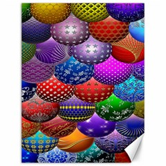Fun Balls Pattern Colorful And Ornamental Balls Pattern Background Canvas 12  X 16