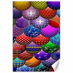 Fun Balls Pattern Colorful And Ornamental Balls Pattern Background Canvas 24  X 36