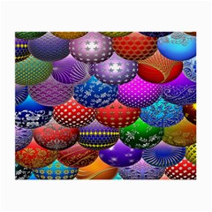 Fun Balls Pattern Colorful And Ornamental Balls Pattern Background Small Glasses Cloth (2 Side)