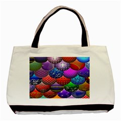 Fun Balls Pattern Colorful And Ornamental Balls Pattern Background Basic Tote Bag (two Sides)