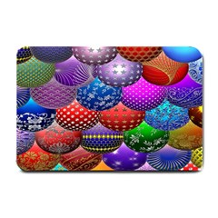 Fun Balls Pattern Colorful And Ornamental Balls Pattern Background Small Doormat