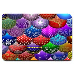 Fun Balls Pattern Colorful And Ornamental Balls Pattern Background Large Doormat