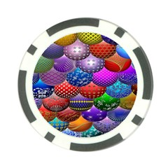Fun Balls Pattern Colorful And Ornamental Balls Pattern Background Poker Chip Card Guard