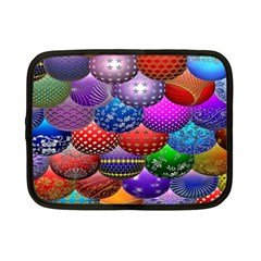 Fun Balls Pattern Colorful And Ornamental Balls Pattern Background Netbook Case (Small)