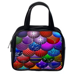 Fun Balls Pattern Colorful And Ornamental Balls Pattern Background Classic Handbags (One Side)