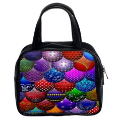 Fun Balls Pattern Colorful And Ornamental Balls Pattern Background Classic Handbags (2 Sides)