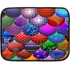Fun Balls Pattern Colorful And Ornamental Balls Pattern Background Double Sided Fleece Blanket (Mini)