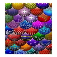 Fun Balls Pattern Colorful And Ornamental Balls Pattern Background Shower Curtain 66  X 72  (large)