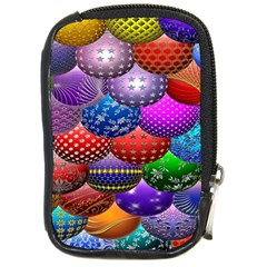 Fun Balls Pattern Colorful And Ornamental Balls Pattern Background Compact Camera Cases