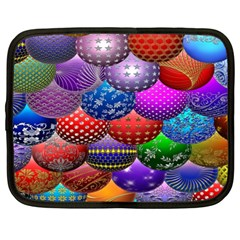 Fun Balls Pattern Colorful And Ornamental Balls Pattern Background Netbook Case (xl)