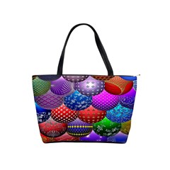 Fun Balls Pattern Colorful And Ornamental Balls Pattern Background Shoulder Handbags