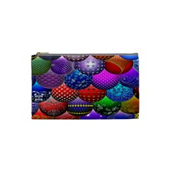 Fun Balls Pattern Colorful And Ornamental Balls Pattern Background Cosmetic Bag (Small)