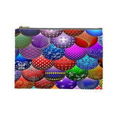 Fun Balls Pattern Colorful And Ornamental Balls Pattern Background Cosmetic Bag (Large)