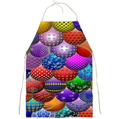 Fun Balls Pattern Colorful And Ornamental Balls Pattern Background Full Print Aprons