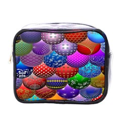 Fun Balls Pattern Colorful And Ornamental Balls Pattern Background Mini Toiletries Bags