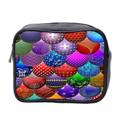 Fun Balls Pattern Colorful And Ornamental Balls Pattern Background Mini Toiletries Bag 2-Side