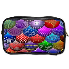 Fun Balls Pattern Colorful And Ornamental Balls Pattern Background Toiletries Bags