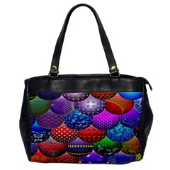 Fun Balls Pattern Colorful And Ornamental Balls Pattern Background Office Handbags