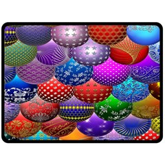Fun Balls Pattern Colorful And Ornamental Balls Pattern Background Fleece Blanket (Large)