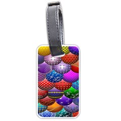 Fun Balls Pattern Colorful And Ornamental Balls Pattern Background Luggage Tags (Two Sides)