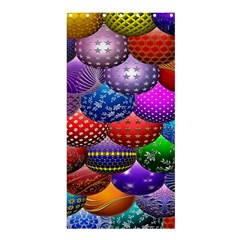 Fun Balls Pattern Colorful And Ornamental Balls Pattern Background Shower Curtain 36  X 72  (stall)