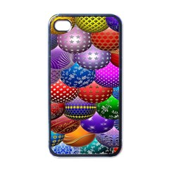 Fun Balls Pattern Colorful And Ornamental Balls Pattern Background Apple Iphone 4 Case (black)
