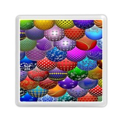 Fun Balls Pattern Colorful And Ornamental Balls Pattern Background Memory Card Reader (Square)