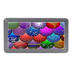 Fun Balls Pattern Colorful And Ornamental Balls Pattern Background Memory Card Reader (Mini)