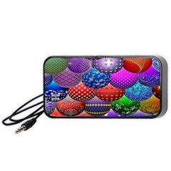Fun Balls Pattern Colorful And Ornamental Balls Pattern Background Portable Speaker (Black)