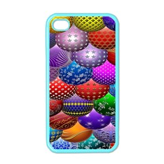 Fun Balls Pattern Colorful And Ornamental Balls Pattern Background Apple iPhone 4 Case (Color)