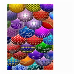Fun Balls Pattern Colorful And Ornamental Balls Pattern Background Small Garden Flag (Two Sides)