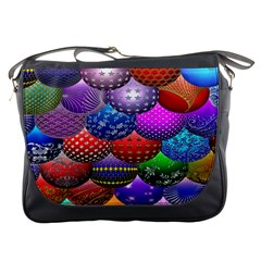 Fun Balls Pattern Colorful And Ornamental Balls Pattern Background Messenger Bags