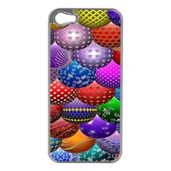 Fun Balls Pattern Colorful And Ornamental Balls Pattern Background Apple iPhone 5 Case (Silver)