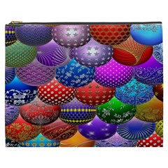 Fun Balls Pattern Colorful And Ornamental Balls Pattern Background Cosmetic Bag (XXXL)