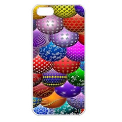 Fun Balls Pattern Colorful And Ornamental Balls Pattern Background Apple Iphone 5 Seamless Case (white)