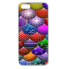 Fun Balls Pattern Colorful And Ornamental Balls Pattern Background Apple Seamless iPhone 5 Case (Clear)