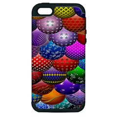 Fun Balls Pattern Colorful And Ornamental Balls Pattern Background Apple Iphone 5 Hardshell Case (pc+silicone)