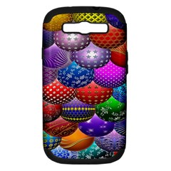 Fun Balls Pattern Colorful And Ornamental Balls Pattern Background Samsung Galaxy S III Hardshell Case (PC+Silicone)