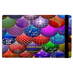 Fun Balls Pattern Colorful And Ornamental Balls Pattern Background Apple iPad 3/4 Flip Case