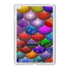 Fun Balls Pattern Colorful And Ornamental Balls Pattern Background Apple iPad Mini Case (White)